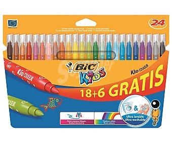 Bic 841803 - rotuladores, multicolor Pack de 24