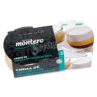 Montero Crema de yogur con tocino de cielo Pack 2x125 g