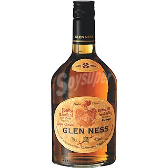 GLEN NESS Whisky escocés Blended 8 años elaborado para grupo El Corte Inglés Botella 70 cl