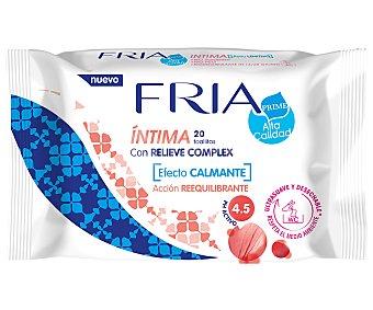Acción Toallitas para la higiene íntima con relieve complex y reequilibrante y calmante fria 20 uds