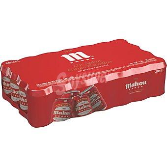Mahou Cerveza 5 estrellas rubia nacional  Pack 28 latas 33 cl