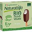 Bio Organic Vegan mini bombones de arroz sabor chocolate y nata sin gluten y ecológicos Estuche 4 unidades Naturattiva