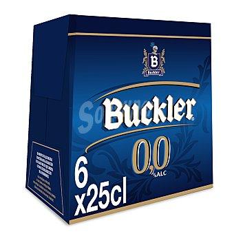 Buckler Cerveza sin alcohol Pack de 6 botellas de 25 centilitros