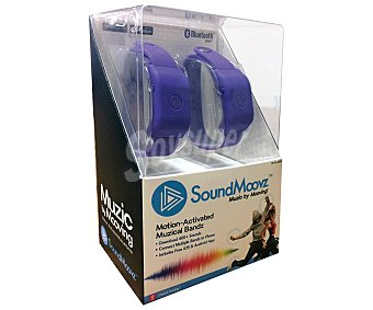 SOUNDMOOVZ Muzic by Dancing pulseras musicales Muzic by Dancing con conexión bluetooth SOUNDMOOVZ Pack de 2