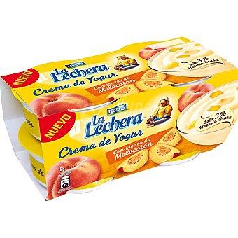 La Lechera Nestlé Crema de yogur con melocotón Pack 4x125 g