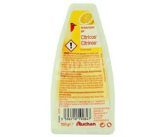 Auchan Ambientador absorbeolores en gel, fragancia cítricos 150 gramos