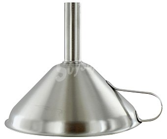 Auchan Embudo de acero inoxidable, 12 centímetros de diámetro 1 Unidad