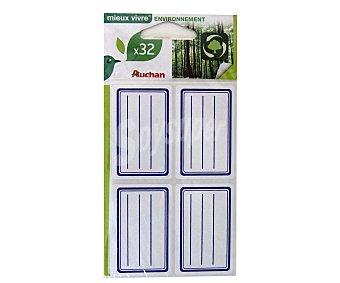 Auchan Bolsa de 32 etiquetas adhesivas con líneas azules y medidas de 36X56 centímetos auchan 32u