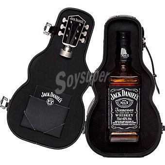 Jack Daniel's Nº 7 whiskey de Tennessee Estuche Guitarra Botella 70 cl