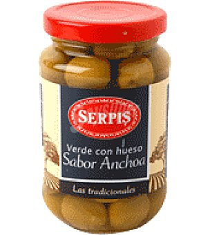Serpis Aceitunas verde sabor anchoa con hueso 200 g