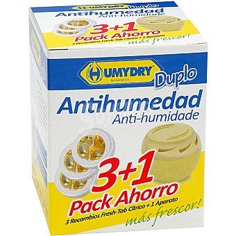 Humydry Antihumedad perfume limón pack 3 recambios + aparato gratis pack 3
