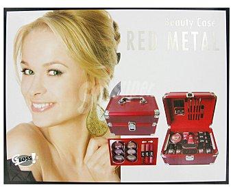Gloss Maletín de Maquillaje de Metal Rojo 1u