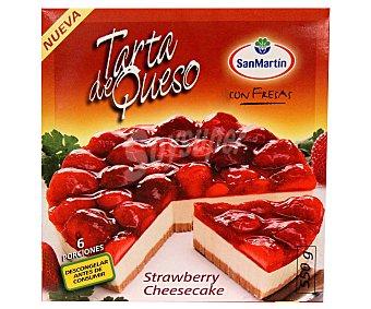 San Martin Tarta de Queso Con Fresa 550 Gramos
