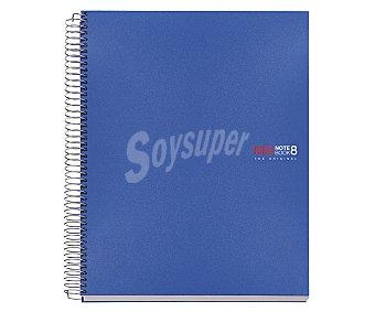 Miquel rius Cuaderno espiral de polipropileno A4 de 200 hojas con cuadrícula, color azul, miquelrius.