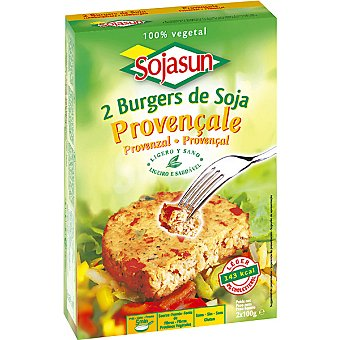 SOJASUN Provenza Hamburguesa vegetal de soja Pack 2 unidades 100 g