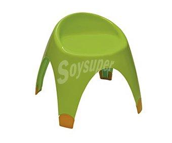 Garden life Silla infantil fija y aplilable para jardín. Fabricada en resina de color verde limón y con medidas de 36 x 24 x 37 centímetros 1 unidad