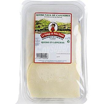 La Pasiega de Peña Pelada Queso nata de Cantabria en lonchas madurado envase 200 g Envase 200 g