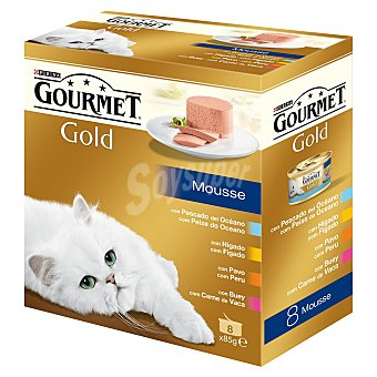 Gourmet Gold Multipack Mousses surtidos 4 sabores 8 unidades
