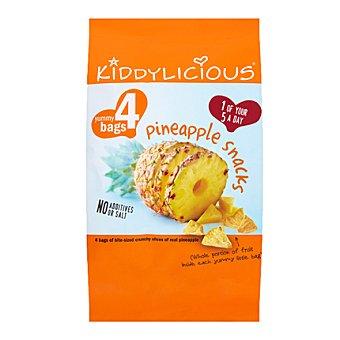 Kiddylicious Crips de piña Pack 4x15 g