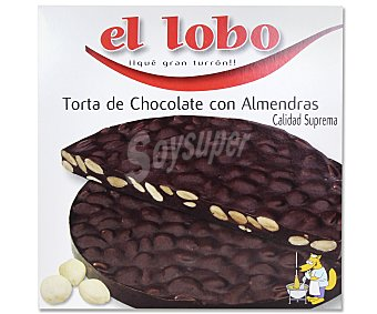 El Lobo Torta de turrón duro con chocolate y almendras 200 gramos