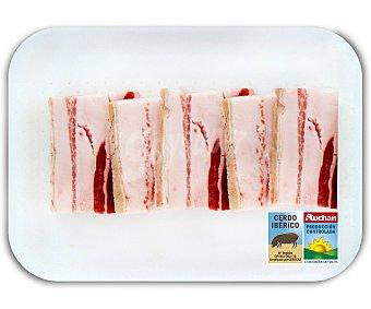 Auchan Producción Controlada Panceta en filetes de cerdo ibérico fresco 350 Gramos