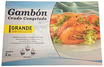 Dimarosa Gambon congelado crudo grande (40/80 piezas) Caja 2 kg