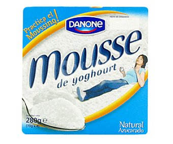 Danone Mousse de yogur natural pack 4x70 g