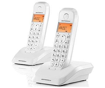 MOTOROLA S1202 BLANCO Teléfono inalámbrico duo Dect motorola startac S1202 Blanco, identificador de llamadas, manos libres, agenda para 50 contactos