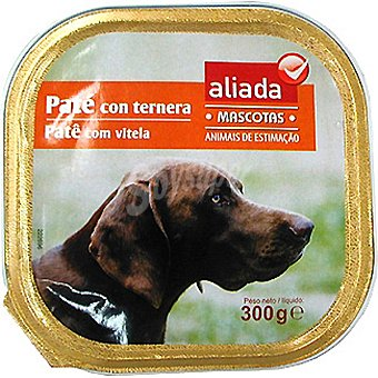 Aliada Paté con ternera para perro Tarrina 300 g