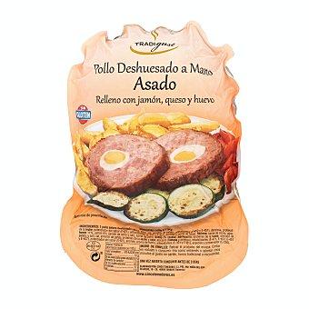 Tradigust Pollo asado Tradigust relleno con jamón, queso y huevo Paquete 1 kg aprox