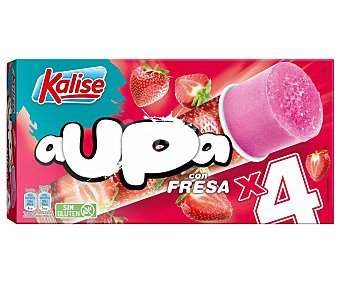Kalise Polo de hielo con sorbete de fresa y sin gluten Aupa 4 x 105 g