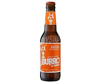 Burro de Sancho Cerveza artesanal Neipa con citra, mosaic y mandarina botella 33 cl