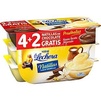Nestlé Natillas de vainilla + 2 natillas chocolate  Pack 4 unidades 115 g