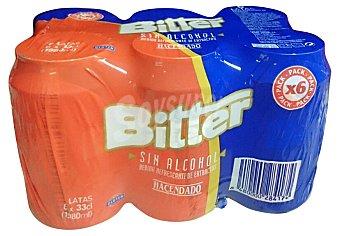 Hacendado Bitter sin alcohol Lata pack 6 x 330 cc - 1980 cc
