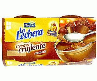 La Lechera Nestlé Crema crujiente de chocolate Pack 4x90 g