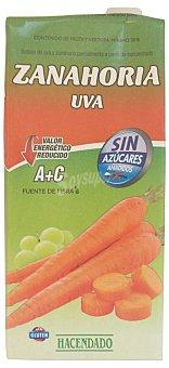 HACENDADO Néctar de frutas zanahoria y uva (valor energético reducido) BRICK 1 l