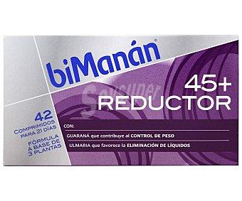 BIMANÁN 45+ Reductor Complemento alimenticio, para eliminar líquidos y grasas para mujeres mayores de 45 años, 42 Comprimidos