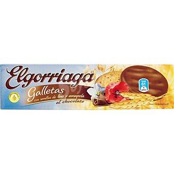 El Gorriaga Galletas bañadas con chocolate lino y amapola Estuche 150 g