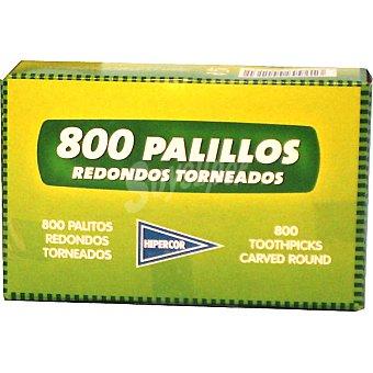 Hipercor palillos redondos torneados caja 800 unidades