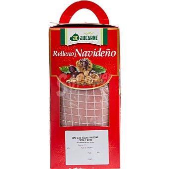 Jucarne Lomo de cerdo relleno tradicional con jamón y queso peso aproximado  caja 1 kg