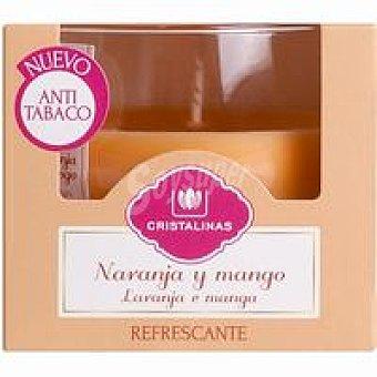 Cristalinas Vela ambientador naranja anti tabaco Pack 1 unid