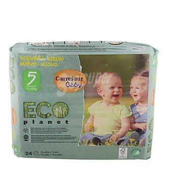 Carrefour Eco Planet Pañal T5 de 11 a 25 kilos 24 ud