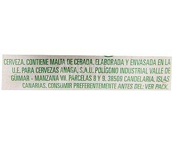 REINA ORO Cerveza Pack 6 Unidades de 25 Centilitros