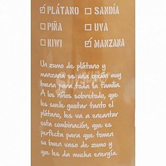Zumo de plátano y manzana EL Frutero Botella 75 cl