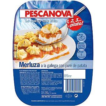 Pescanova Merluza a la gallega con puré de patata Estuche 250 g