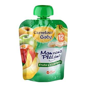 Carrefour Baby Compota manzana y plátano 90 g