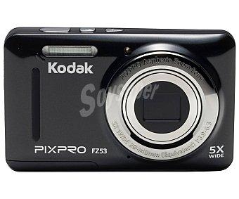 """Kodak pixpro FZ53 Cámara compacta 16 Megapixeles, Zoom óptico 5x, Zoom digital 6x, pantalla 2.7"""", color negro"""