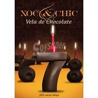 Xoc & Chic Vela de chocolate Nº 7 Pack 1 unid
