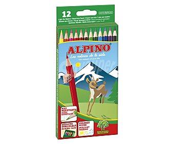 Alpino Caja de 12 lapices de colores + sacapuntas 1 unidad