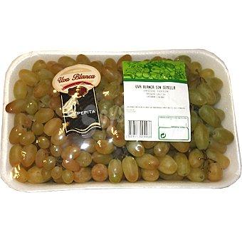 Uvas blancas sin semilla peso aproximado Bandeja 1 kg